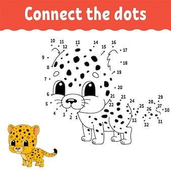 Punkt zu punkt. zeichne eine linie. handschriftpraxis. zahlen für kinder lernen.