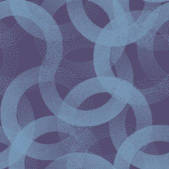 Punktierte kreise textur nahtloses muster retro blau abstrakter hintergrund
