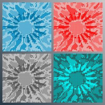 Punktmosaikdesign für flyer, poster, broschürencover, hintergrund, tapeten, typografie oder andere druckprodukte. vektor-illustration.