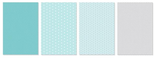 Punktmuster eingestellt. baby-hintergrund. blaue farbe. vektor-illustration. polka-dot-muster.