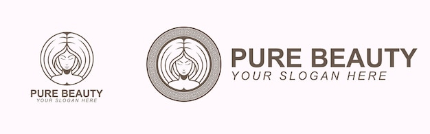 Pure beauty logo branding vorlage