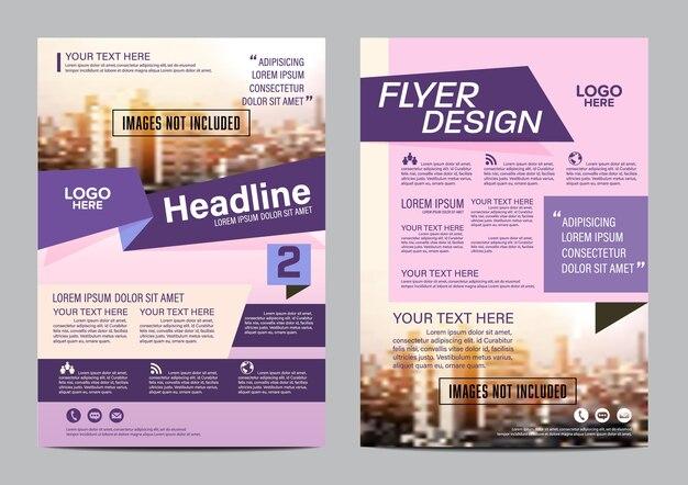 Purple geschäftsbericht deckblatt. layout-entwurfsvorlage.