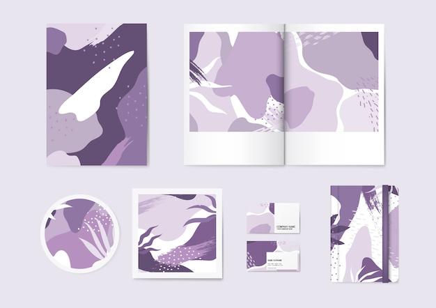 Purplememphis-mustervektorsatz