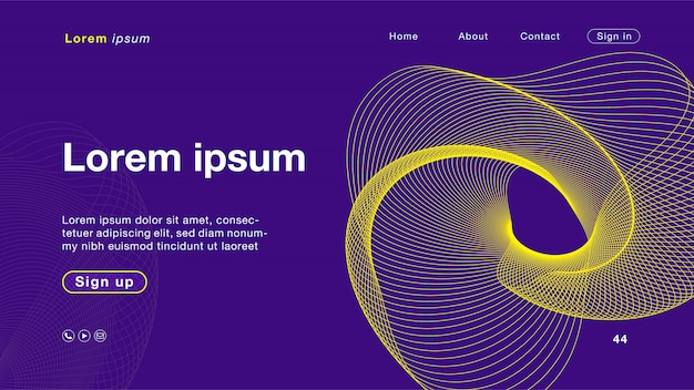 Purpurrote gelbe farbe des hintergrundes für homepage