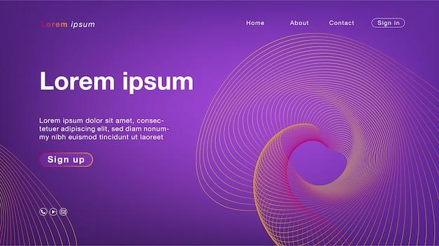 Purpurrote orange linie farbe des hintergrundes für homepage