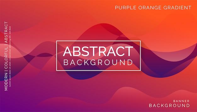 Purpurroter orange abstrakter hintergrund, modernes buntes dynamisches design