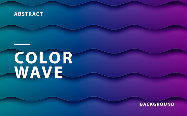 Purpurroter und blauer steigungsfarbwellenhintergrund