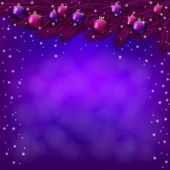 Purpurroter weihnachtshintergrund mit purpurrotem flitter