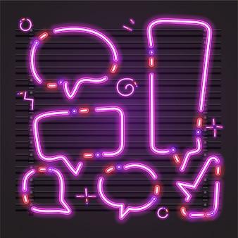 Purpurrotes blasengespräch vom neonvektor.