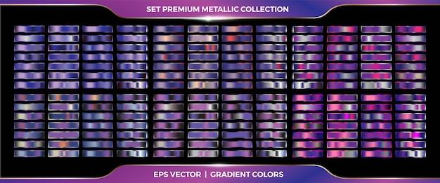 Purpurviolette sammlung von farbverläufen
