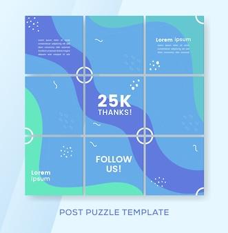 Puzzle-banner-vorlagen-sammlung für instagram-feed-post