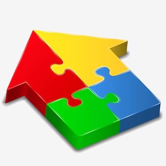 Puzzle-haus