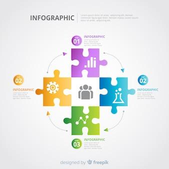 Puzzle infographik vorlage