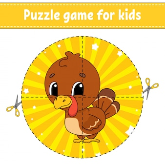 Puzzle-spiel für kinder.