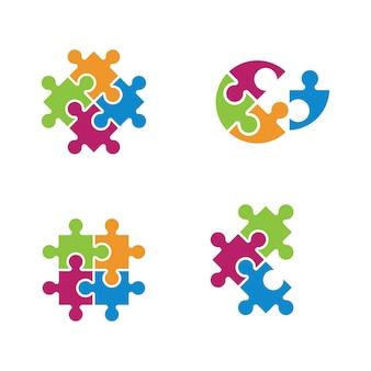Puzzle-vektor-illustration-design-vorlage