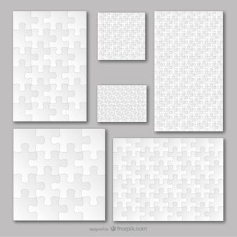 Puzzle-vorlage vektor-set