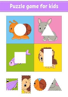 Puzzlespiel für kinder. ausschneiden und einfügen.