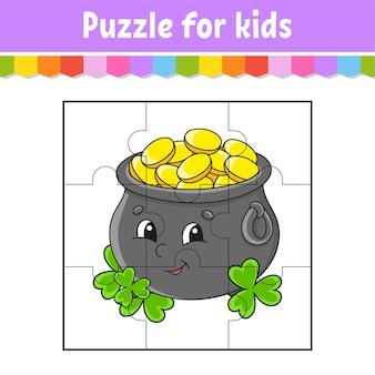 Puzzlespiel für kinder. puzzleteile.