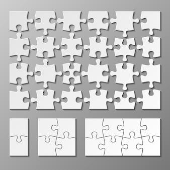 Puzzlestückschablone lokalisiert. puzzle-objekt abbildung