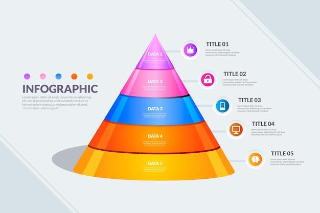Pyramide infografik vorlage