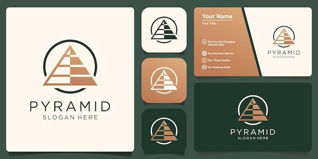 Pyramide-logo-vorlage. fortschritts-geschäftssymbol