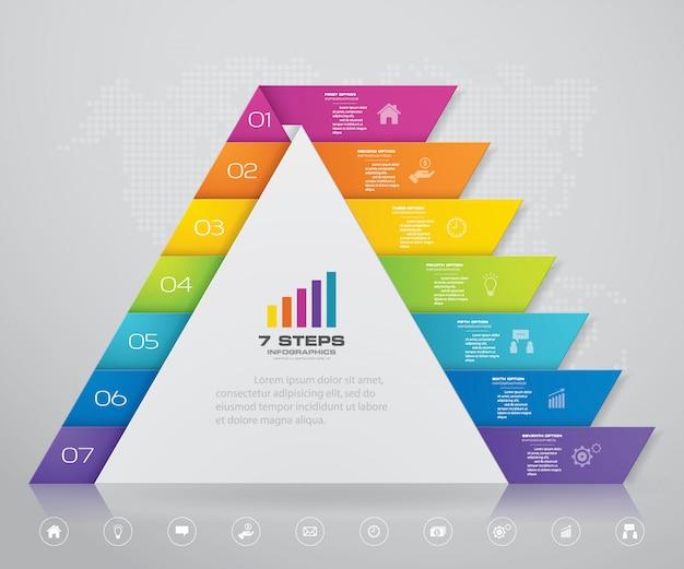 Pyramide mit freiem platz für text auf jeder ebene.