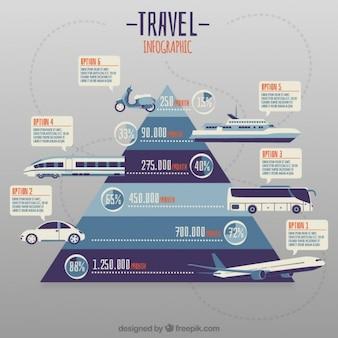 Pyramide mit transporte infographie