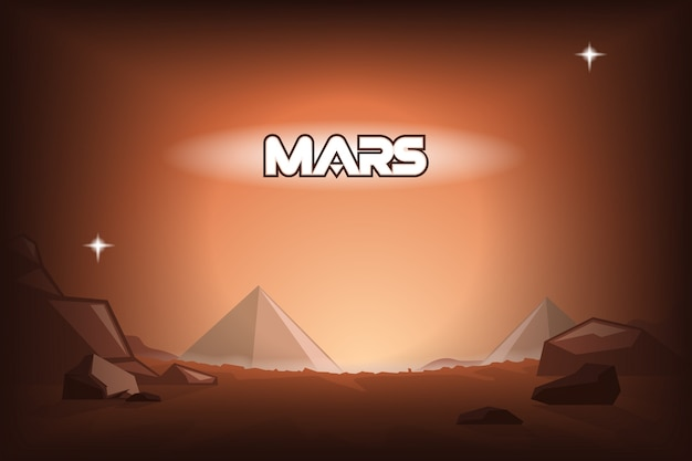 Pyramiden auf dem mars.