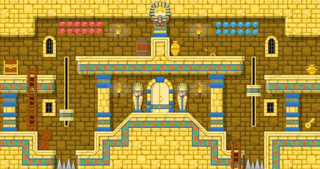 Pyramiden-plattformer tileset