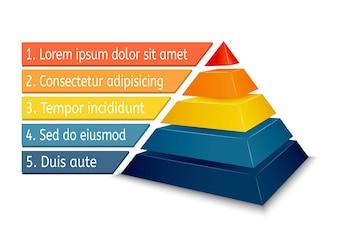 Pyramidendiagramm für Infografiken