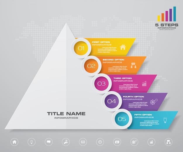 Pyramidendiagramm infografiken