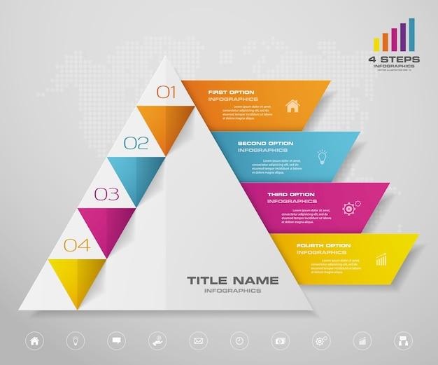 Pyramidendiagramm-infografiken