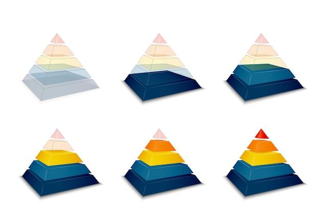 Pyramidenförmiger fortschritt oder ladebalken