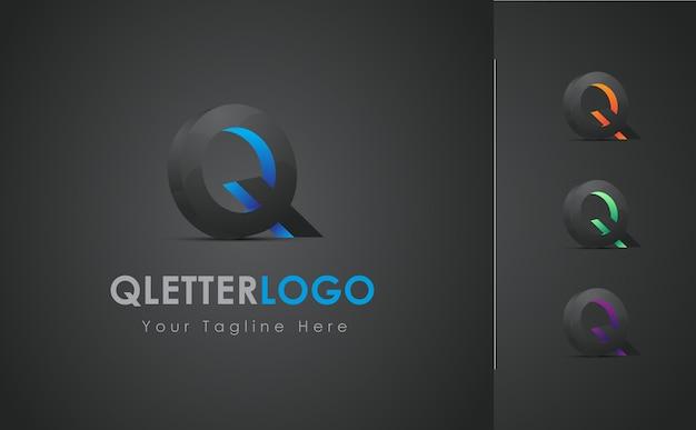 Q brief 3d logo design set