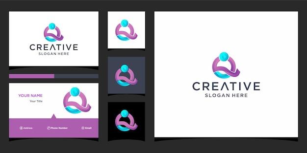 Q-logo-design mit visitenkartenvorlage