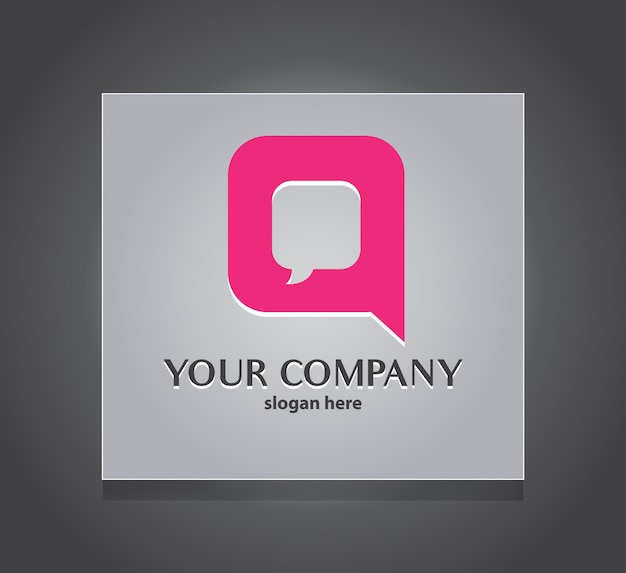 Q vorlage für das chat-kommunikationslogo