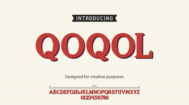 Qoqol schriftart alphabet