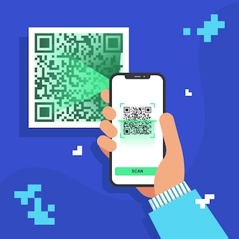 Qr-code des smartphones scannen