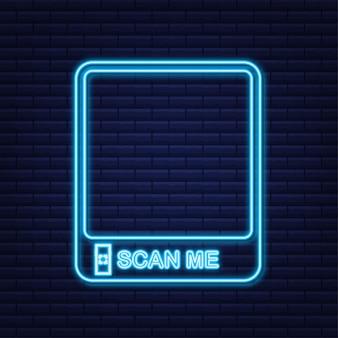 Qr-code für mobile app, zahlung und telefon. scan mich.