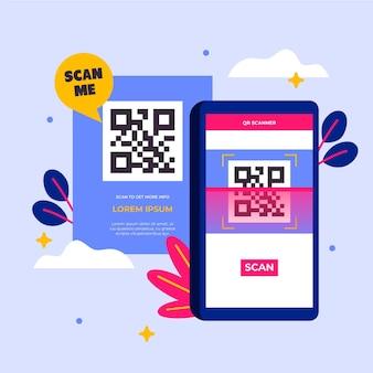 Qr-code-scan auf dem smartphone