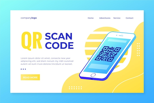 Qr-code-scan-landingpage-thema