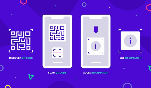 Qr-code-scan-schritte auf dem smartphone