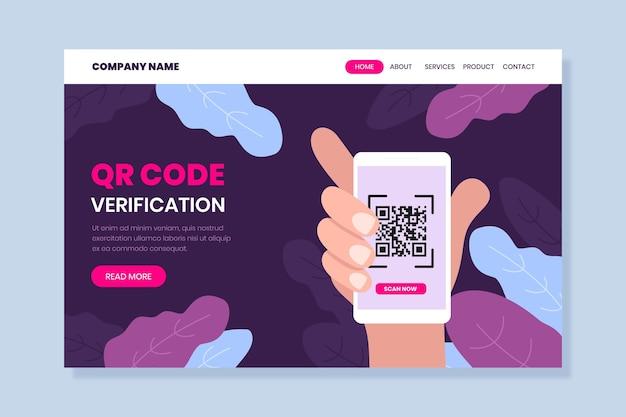 Qr-code-verifizierungs-landingpage