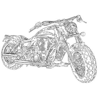 Quad-bike. 3d-modell körperstruktur, drahtmodell
