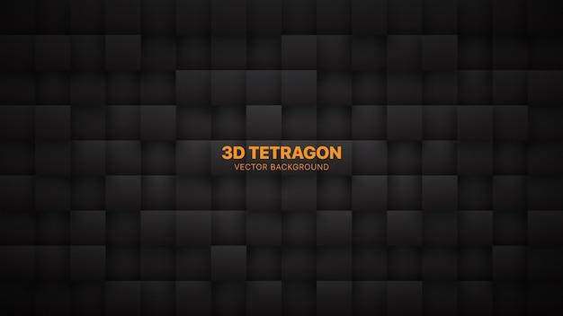 Quadrat blockiert dunkelgrauen abstrakten hintergrund