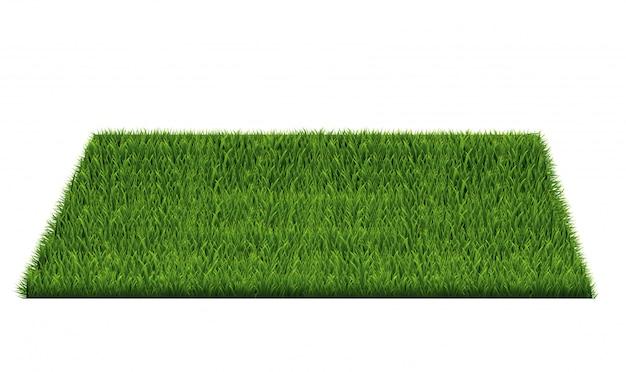 Quadrat des grünen grasfeldes