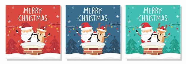 Quadrat frohe weihnachten banner