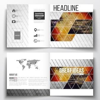 Quadratische Designvorlagen für die Broschüre