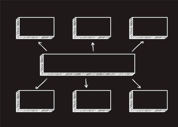 Quadratische diagrammillustration