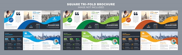 Quadratische dreifachgefaltete broschüren vorlage
